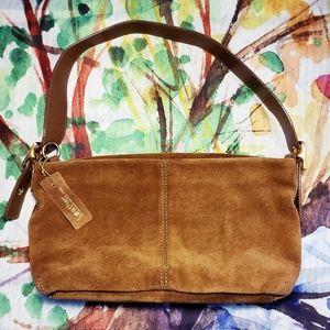 Apt 9 Suede Hobo Style Shoulder Bag, Sable Brown